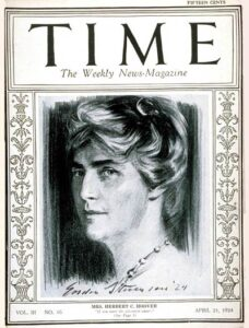 Lou Hoover on cover of Time Magazine