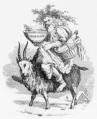 Father Christmas on Yule Goat