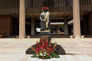 Fr. Damien's statue in Hawai`i
