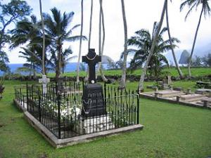 Fr. Damien's gravesite on Moloka`i