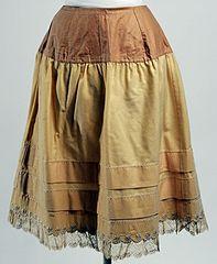 wool petticoat, 1888