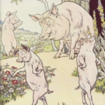 Three pigs leave home.