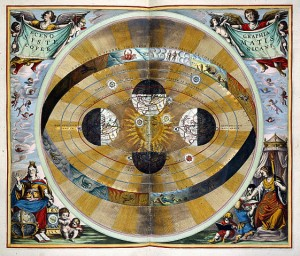 The_Copernican_System_-_Atlas_Coelestis_(1660),_between_30-31_-_BL
