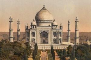 The_Taj_Mahal_at_Agra,_a_German_chromolithograph,_1895