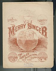Sheet Music - The Merry Singer