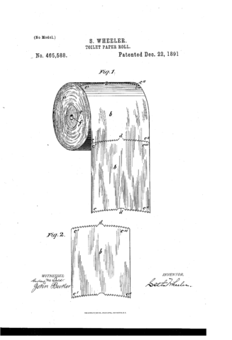Toilet Paper Patent Drawings