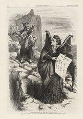 Nast Cartoon of Victoria Woodhull