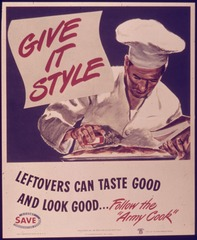 Poster. Give it style. Leftovers can taste good.