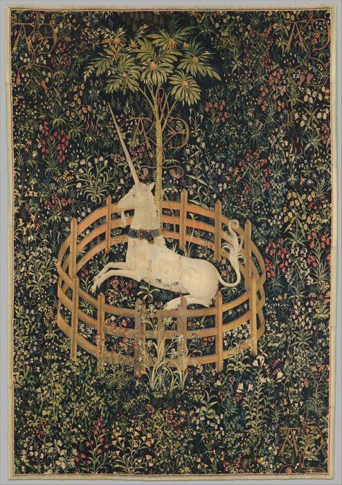 Unicorn Rest in a Garden